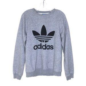 Adidas Grey Logo Full Length Sweatshirt